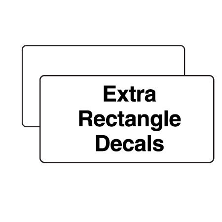"Extra Decal for Rectangle Markers 5""x10"""