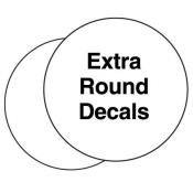 "Extra Decal for Round Markers 6"" (flat)"