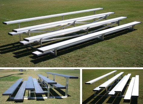 4 Row 40 Seat Low Rise Bleacher