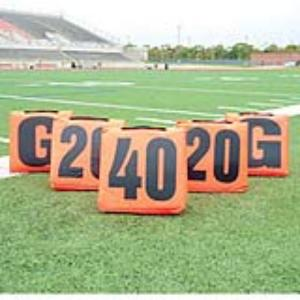 Day/Night Flag Football Sideline Marker 5 Pc set