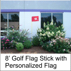 Outdoor Golf Flag Stick Set