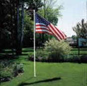 10' Flag Pole Kit with 3'x5' Flag