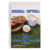 Baseball/Softball Line-Up Card Booklet