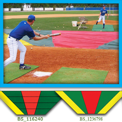 Minor League Style Bunt Zone Infield Protector