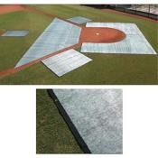 Trapezoid Infield Blanket w/Yellow Border