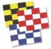 Classic Checkered Golf Flag-set of 9