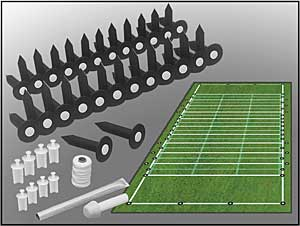 Entire Football Field Lining Set (This Item Ships Free)