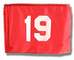 19th Hole Golf Flag (This item ships Free)