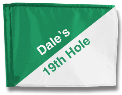 "Custom 19th Hole Golf Flags 14"" x 20"""