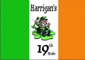 Personalized Irish flag with Leprechaun & 19 (This item ships Free)