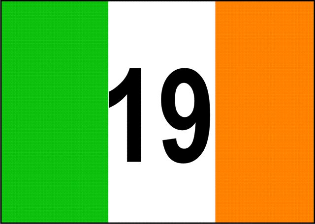 Irish Flag with 19 (This item ships Free)