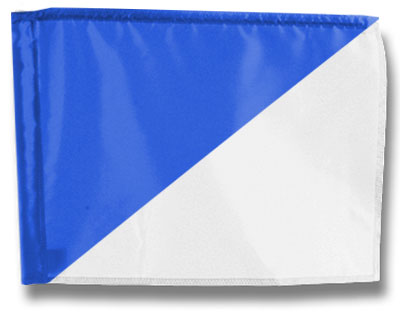 Single Golf Flag - Diagonal Blue/White