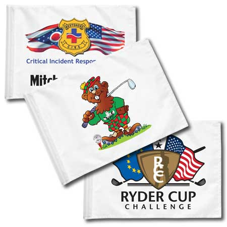 Dacron Heat Transfer Custom Golf Flags (This item ships Free)