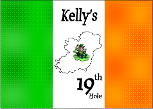 Personalized Irish flag with Ireland, Leprechaun & 19