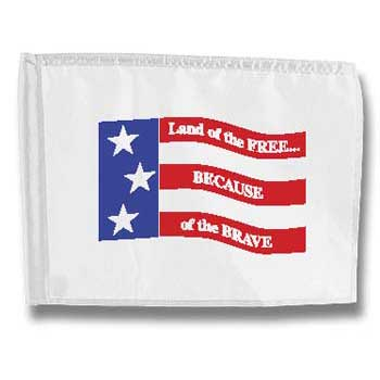 Free & Brave Golf Flag (This item ships Free)