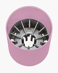 Pink aluminum ST2000 cup