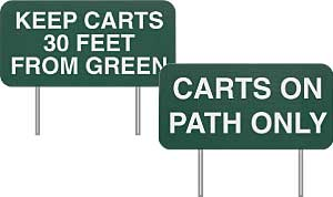 Green Line Carved Plastic Sign-Double Sided