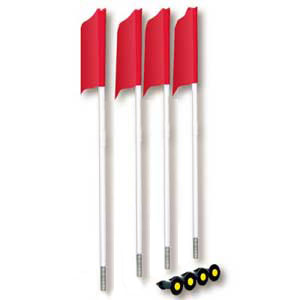 Soccer Flags with Ground Sockets (spring loaded) (This Item Ships Free)