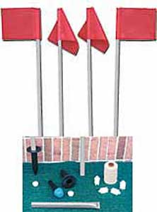 Reflex Soccer Flags with Ground Sockets (This Item Ships Free)