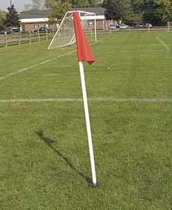 Spring Loaded Soccer Pole & Flag